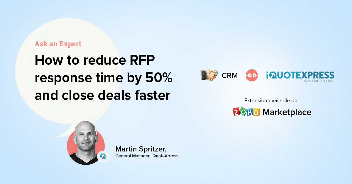 Ask an Expert: How sales teams can reduce RFP response time by 50% and close deals faster