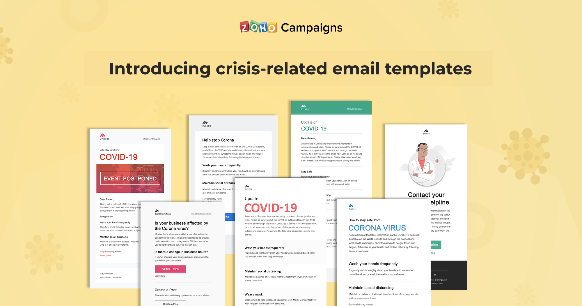 Introducing crisis-related email templates