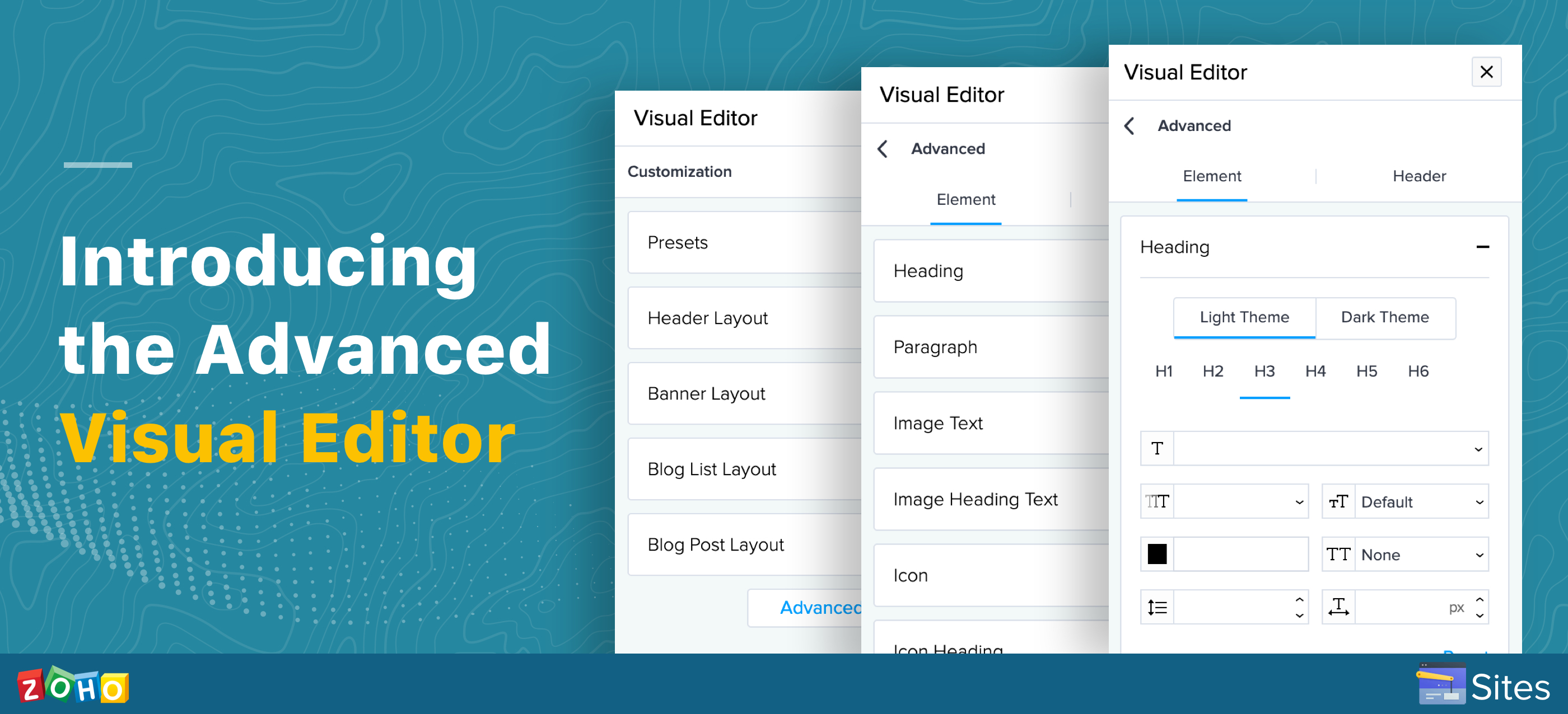 Design your website with our Advanced Visual Editor