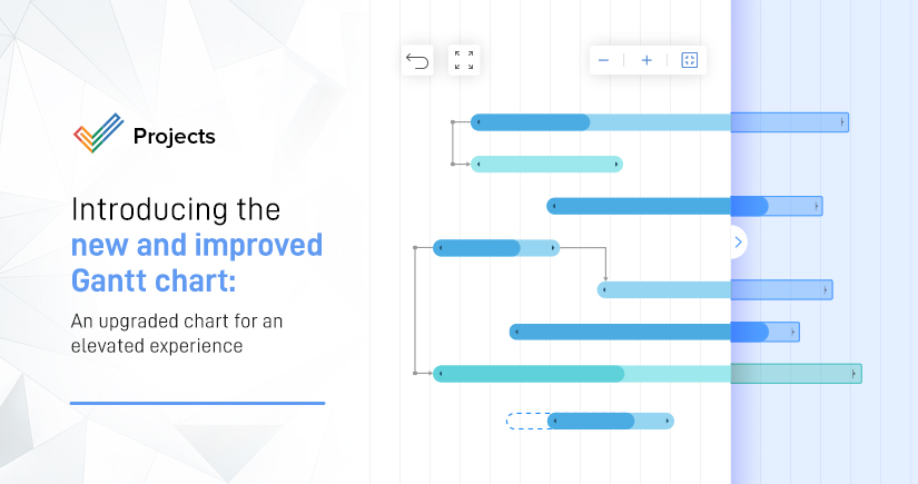 Introducingnew and improved Gantt chart in Zoho Projects:an upgraded chart for an elevated experience
