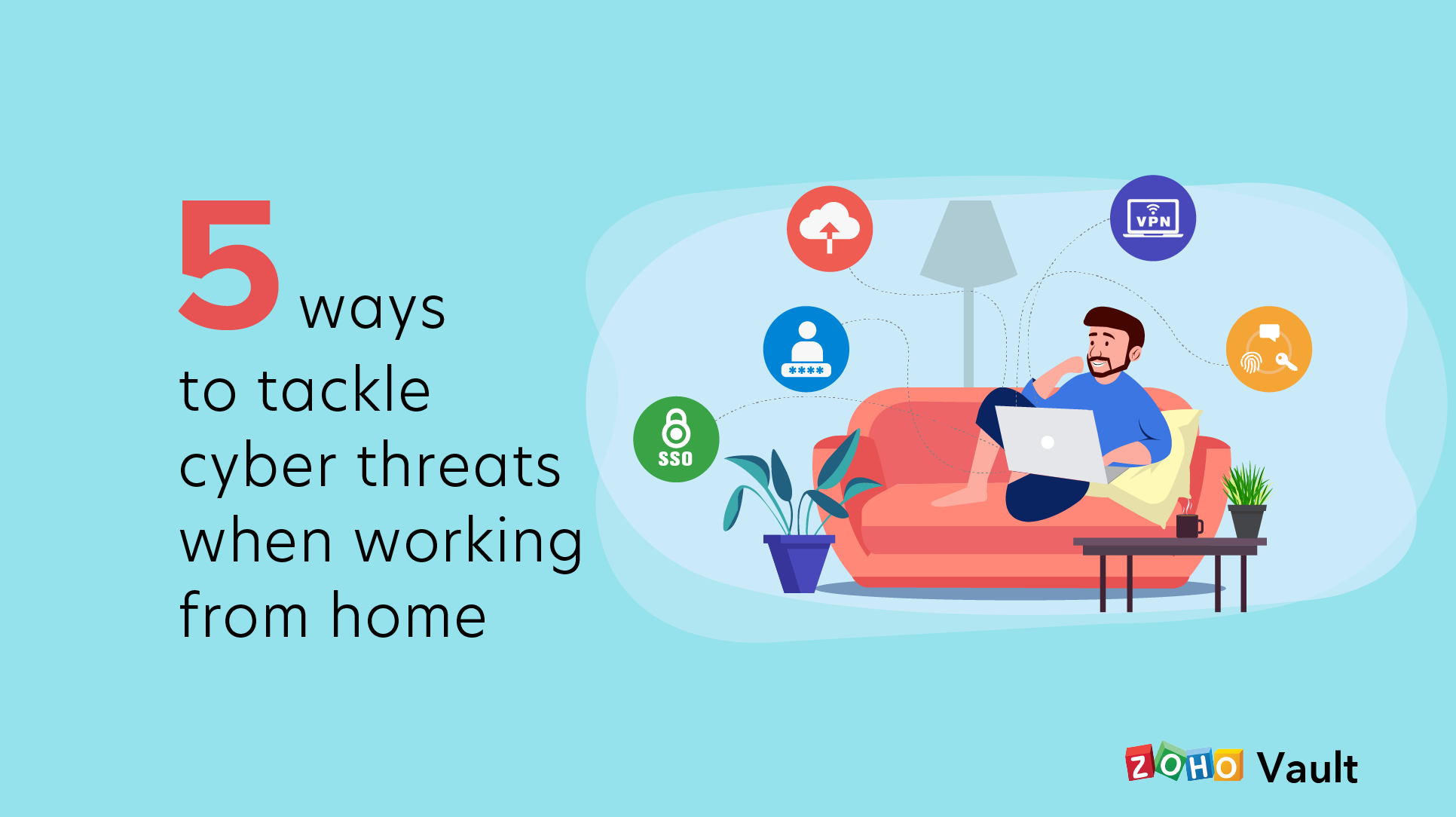 5 ways totackle cyber threats when working from home