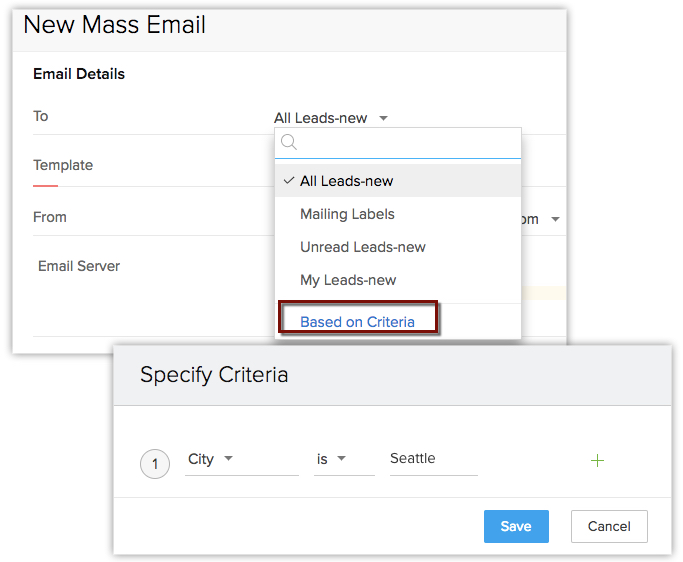 Select specific audiences for emails