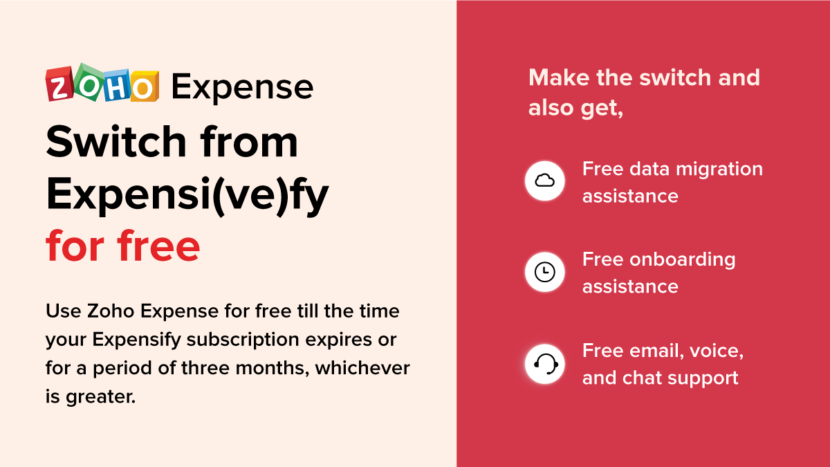 Zoho Expense: Switch from Expensify for free