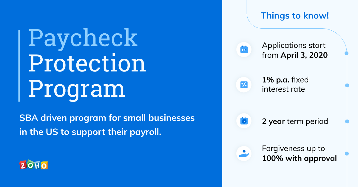 Paycheck Protection Program for small businesses