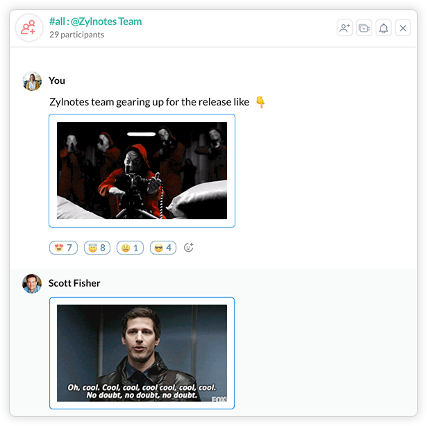 Share GIF's on Cliq with the Cliq-Giphy integration