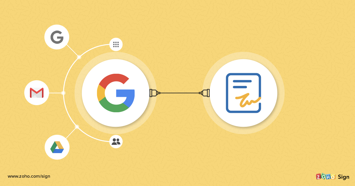 Streamlining paperwork with Zoho Sign for Google applications