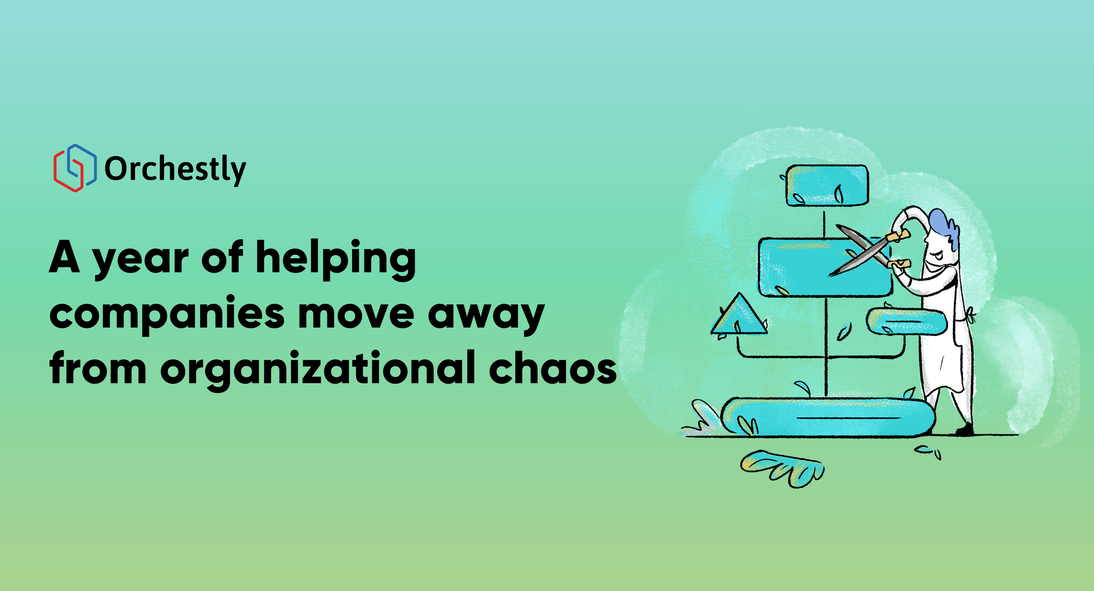 A year of helping companies move away from organizational chaos