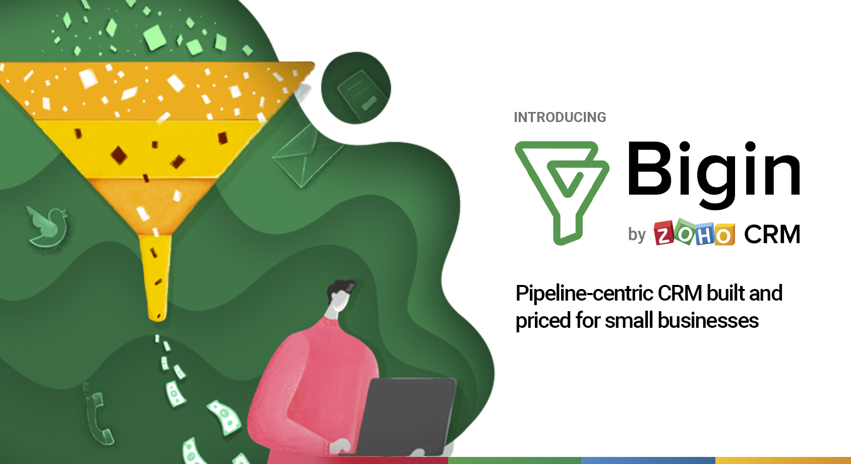 Zoho CRM introduces Bigin: A new pipeline-centric CRM built and priced for small businesses