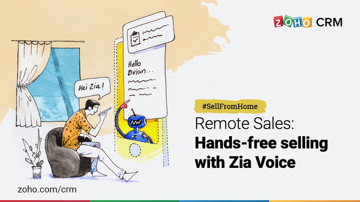 Zia voice, an AI powered assistant.