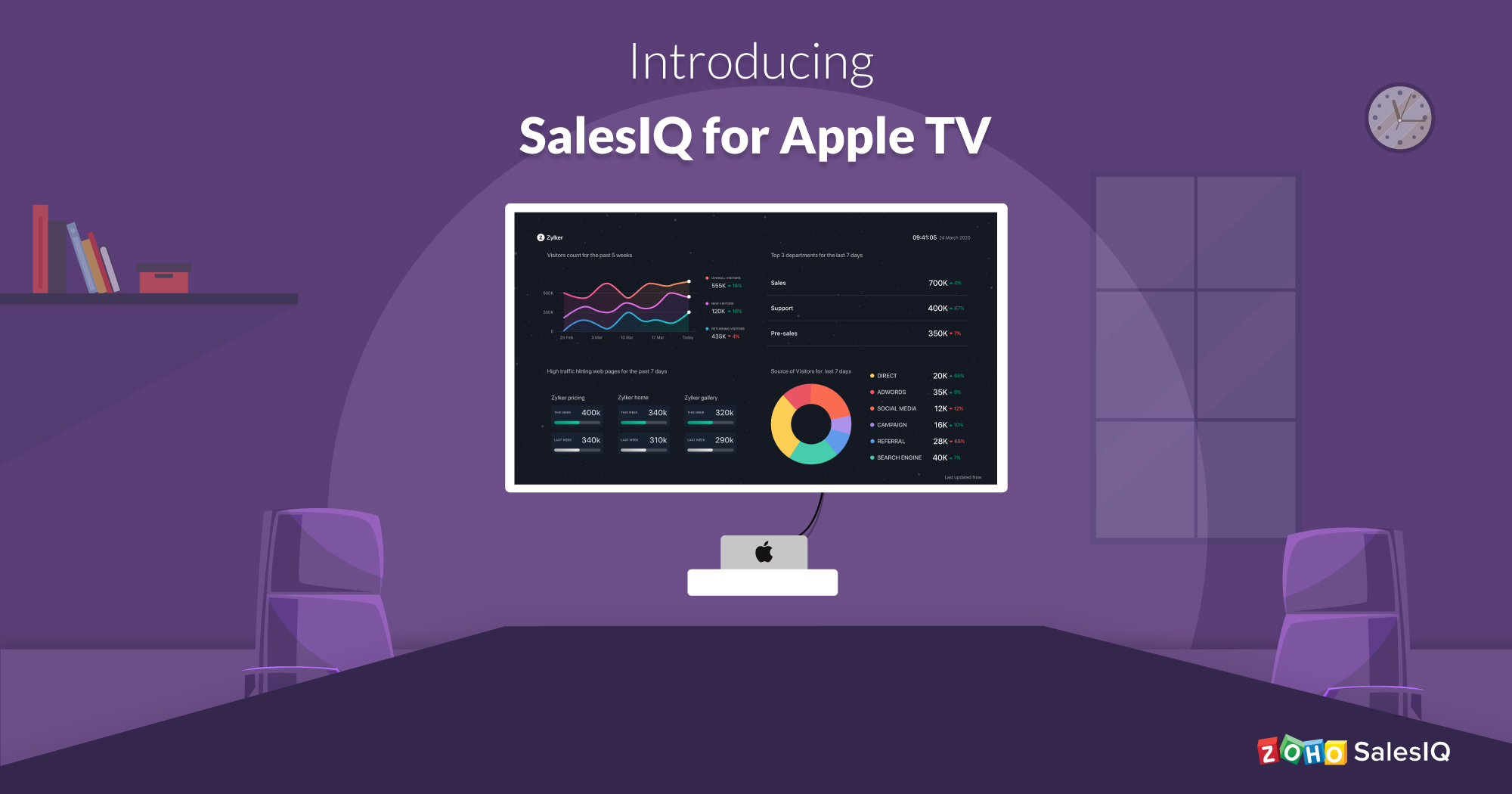 Introducing Zoho SalesIQ for Apple TV