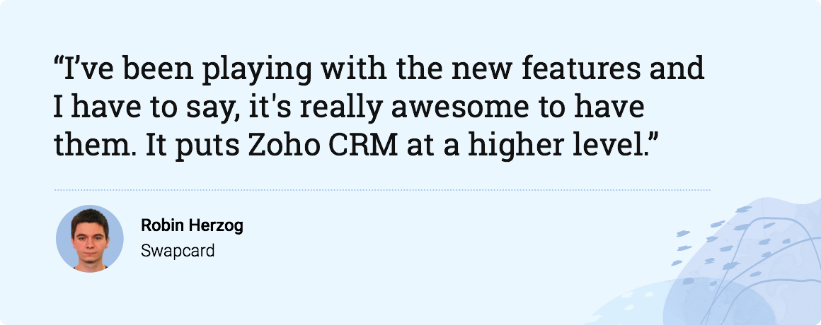 Build everlasting customer relationships with Zoho CRM