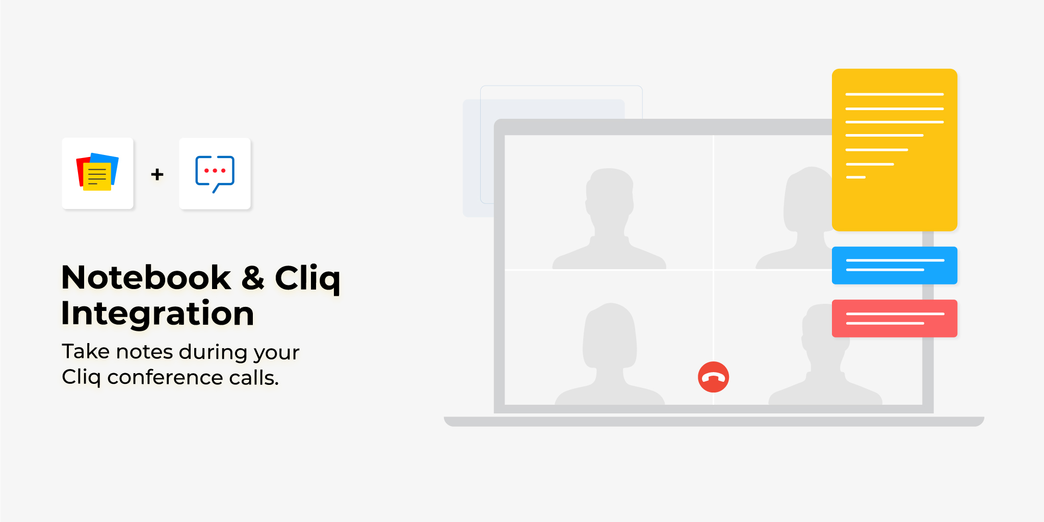 Notebook and Cliq Integration: take notes during your Cliq conference calls