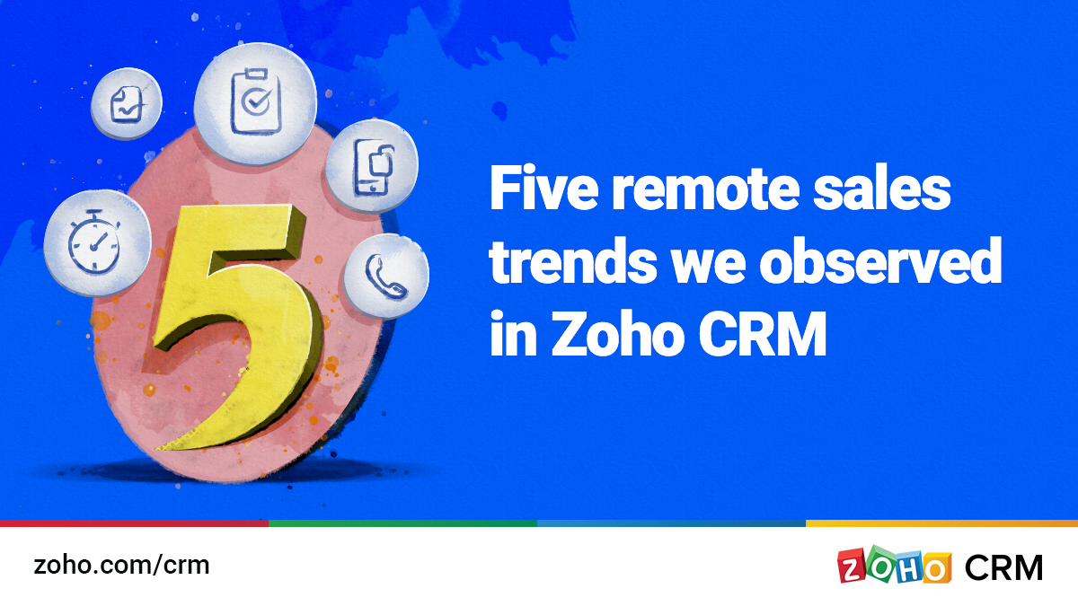 Five remote sales trends we observed in Zoho CRM
