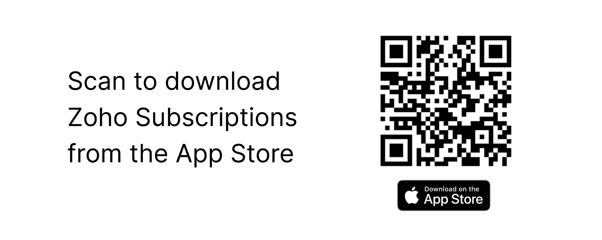 Scan to Download Zoho Subscriptions QR