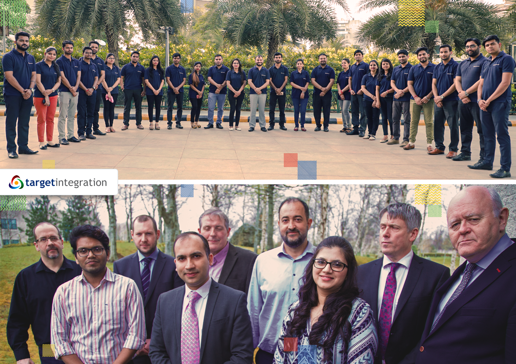 The team at Target Integration in India and Dublin.