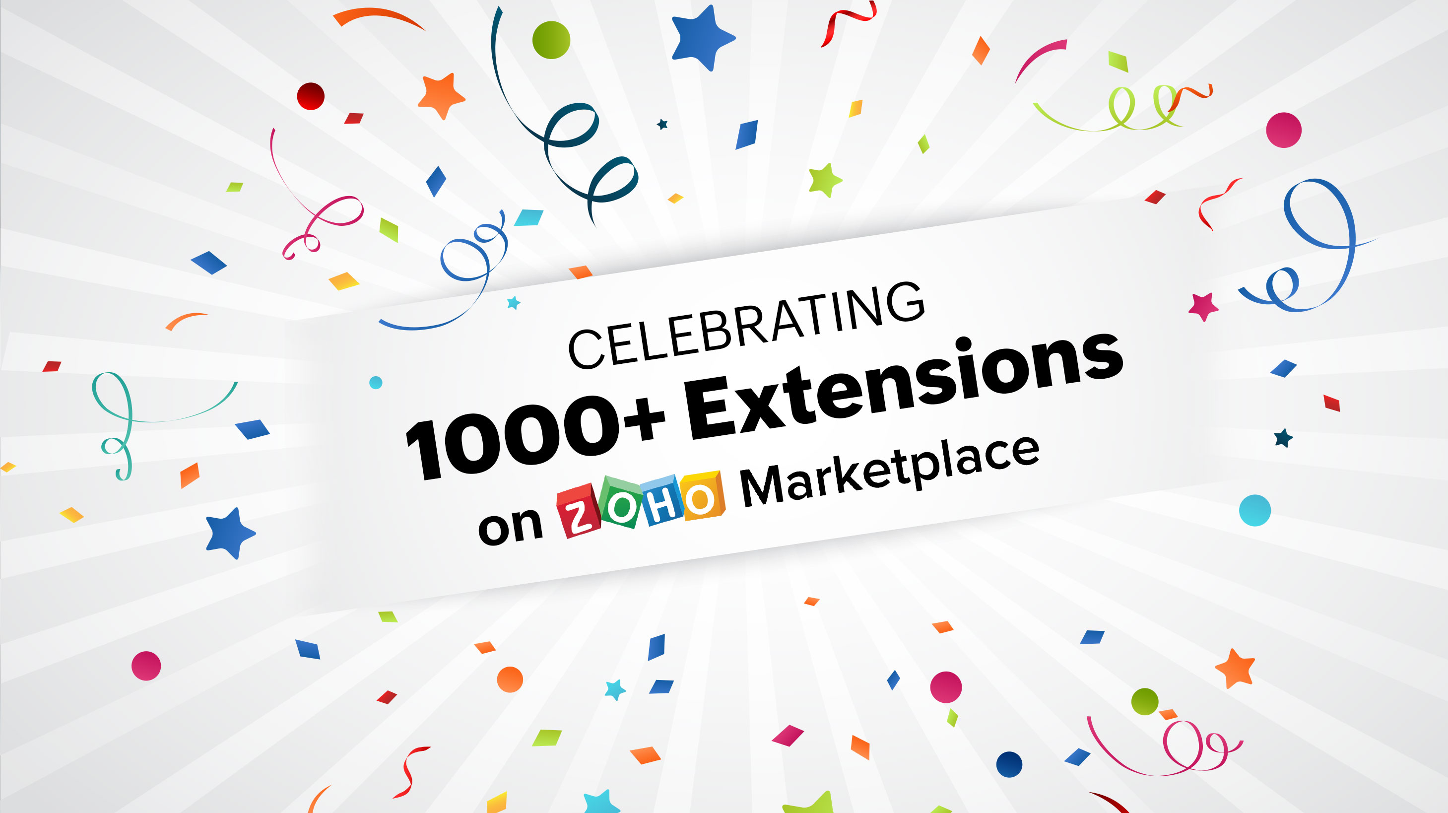 Celebrating 1000+ extensions on Zoho Marketplace