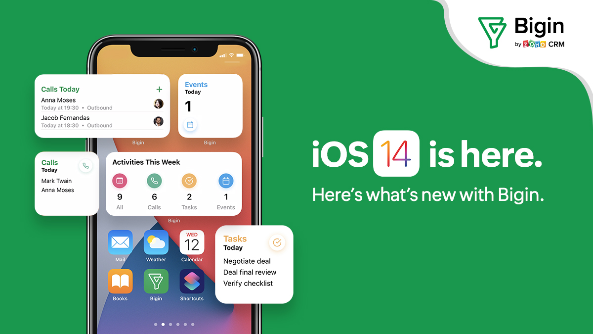 iOS 14 and iPadOS 14: The best of Bigin, made even better.
