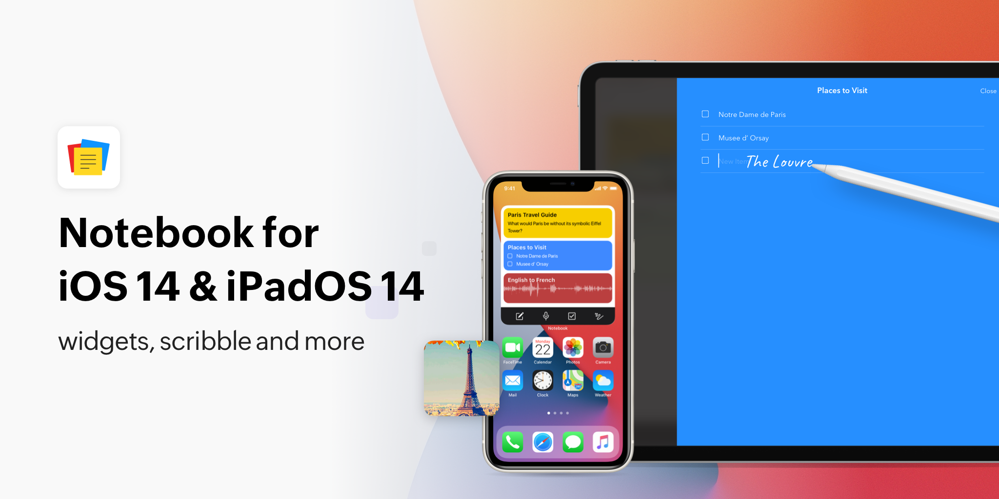 Notebook for iOS 14 and iPadOS 14: Widgets, Scribble, and more