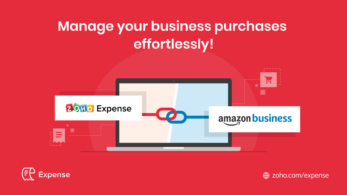 Zoho Expense integrates with Amazon Business: Manage your business purchases effortlessly!