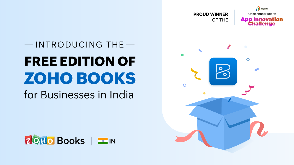 Introducing the Free Edition of Zoho Books for Businesses in India