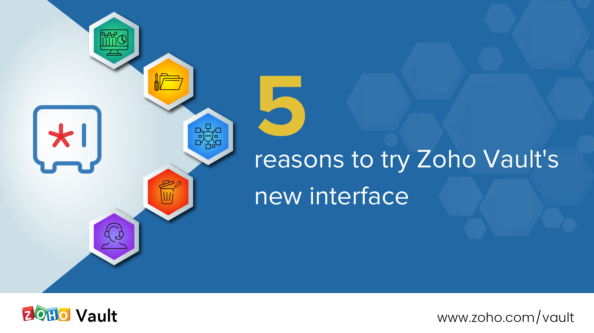 5 reasons to try Zoho Vault's new interface