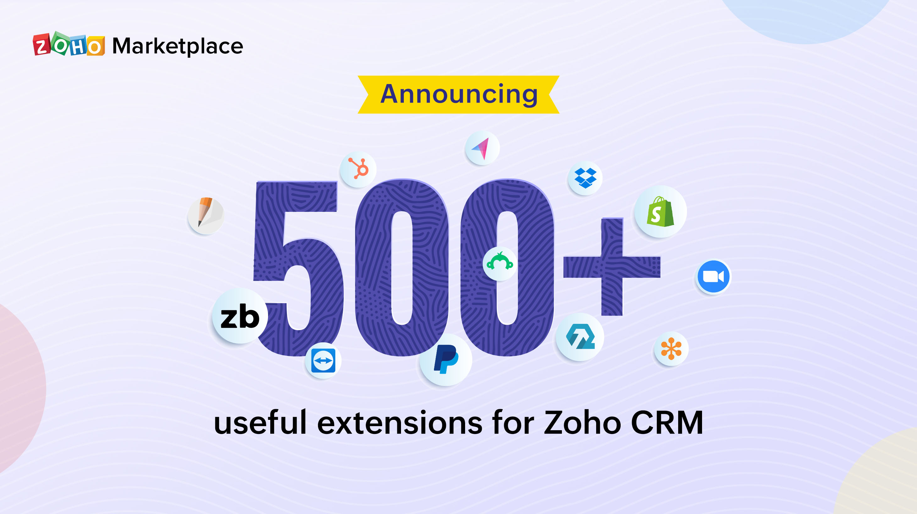 Announcing 500+ useful extensions for Zoho CRM