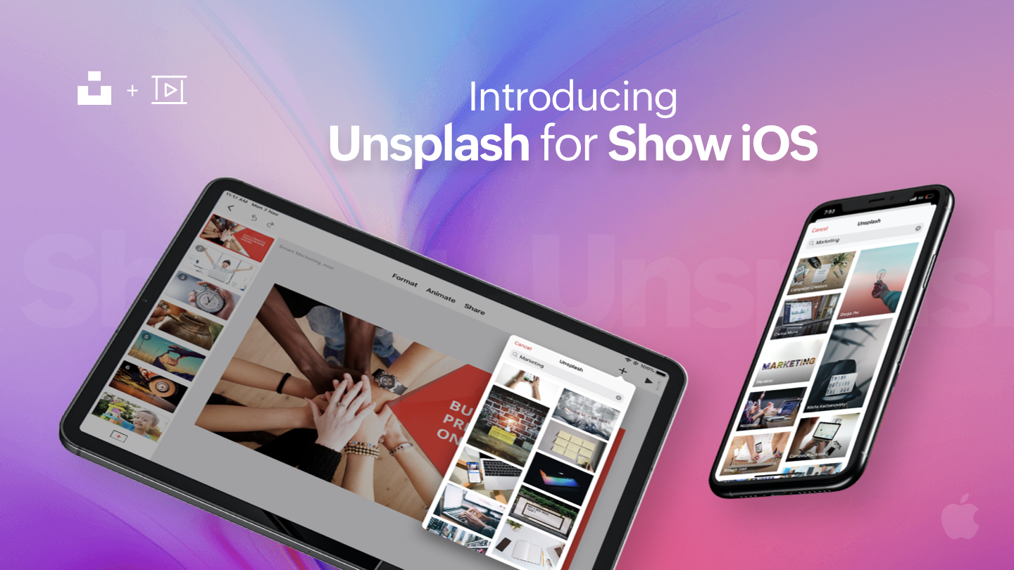 Zoho Show extends Unsplash support to its iOS app