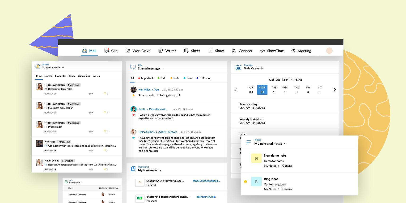 باقة برامج زوهو ووركبليس Zoho Workplace الجديدة والمحسّنة – مساحة عملكم الرقمية الموحدة