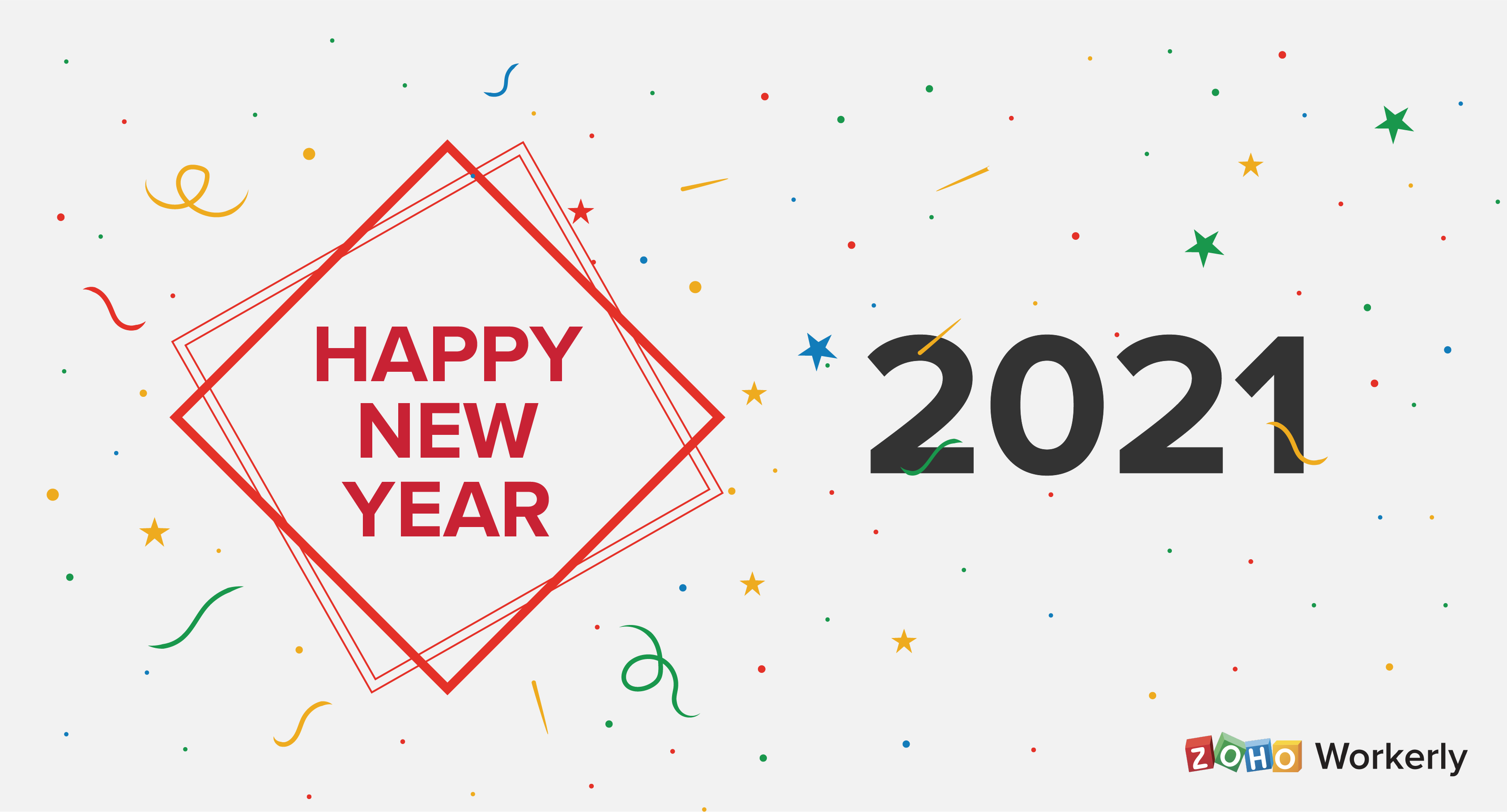 Zoho Workerly wishing a happy new year