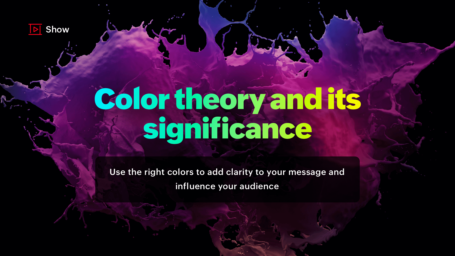 Color theory and its significance in presentations