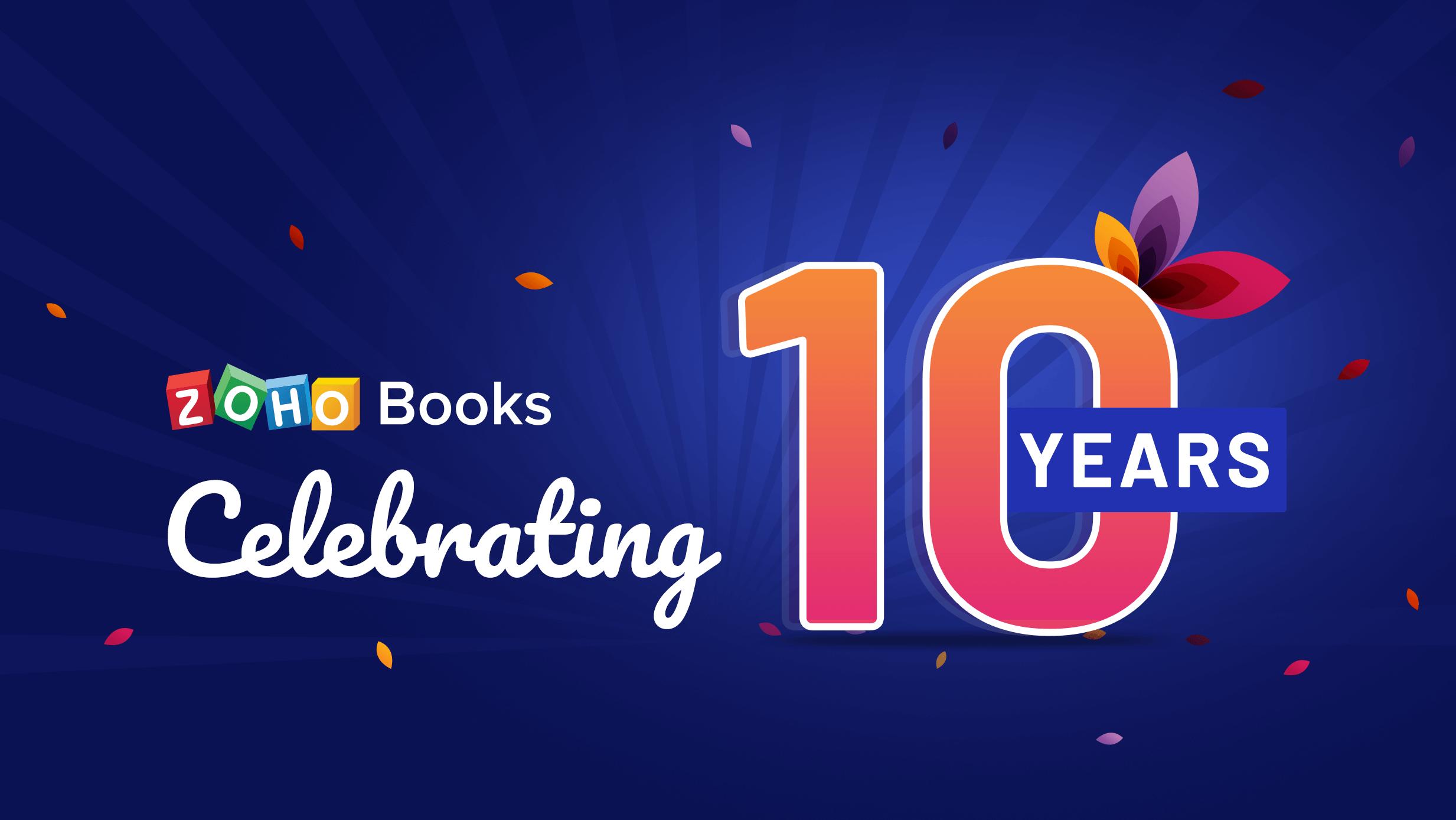 Zoho Books turns 10