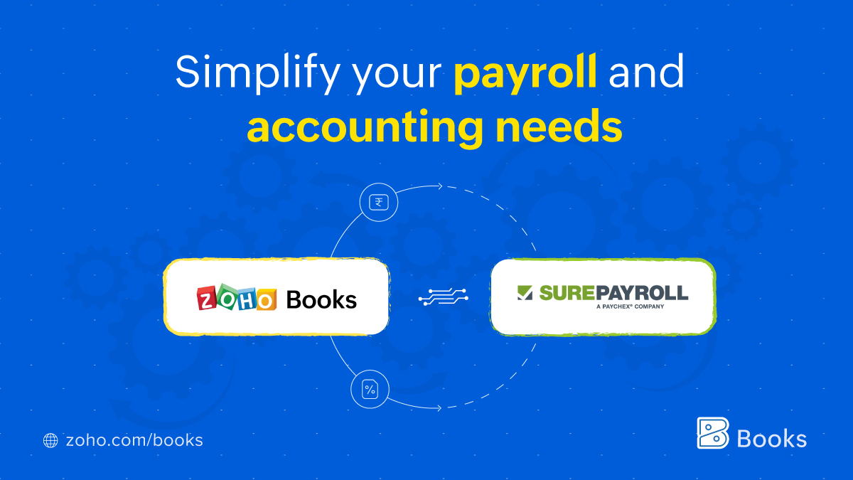 SurePayroll integrates with Zoho Books