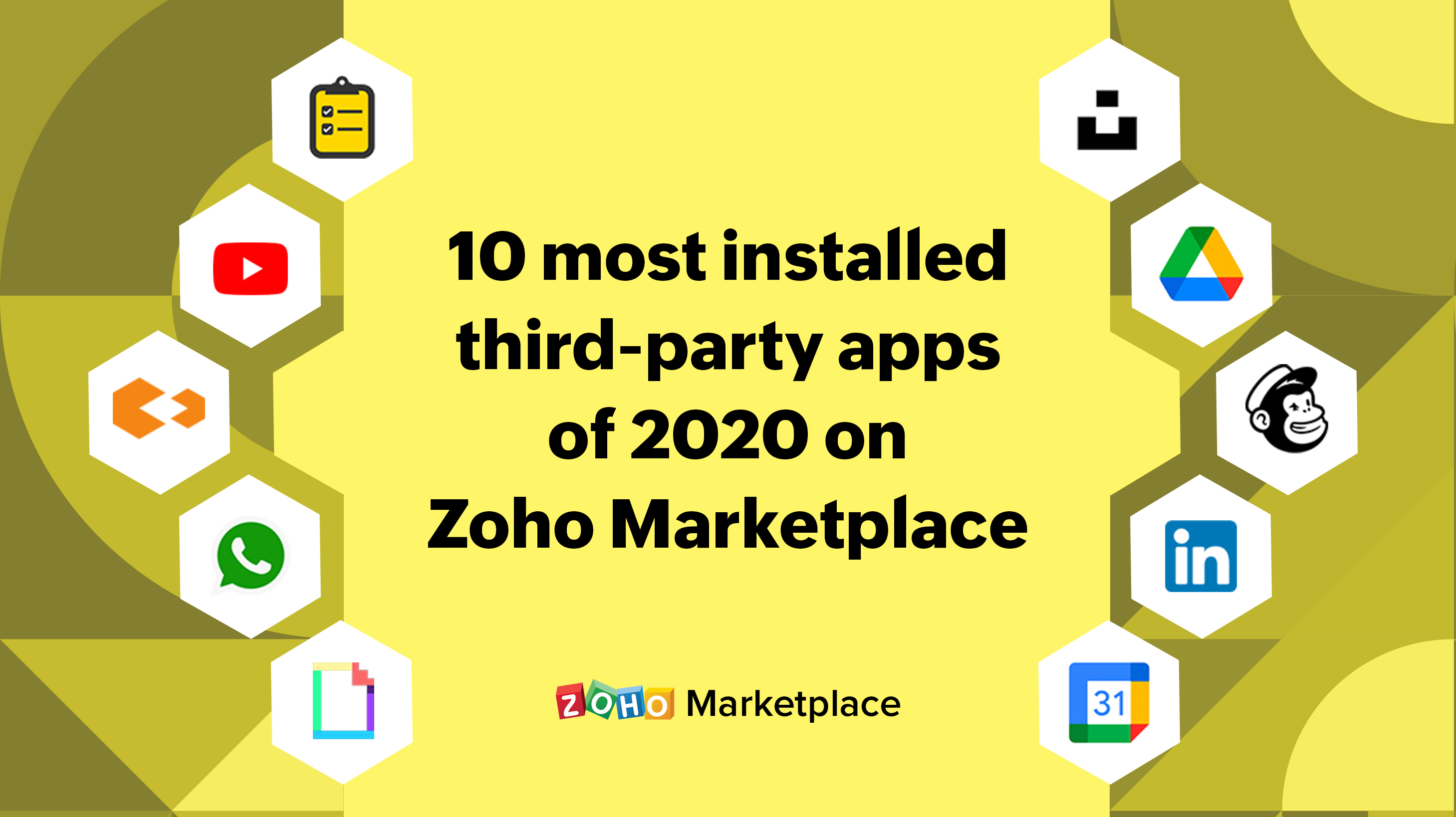 10 most installed third-party apps of 2020 on Zoho Marketplace