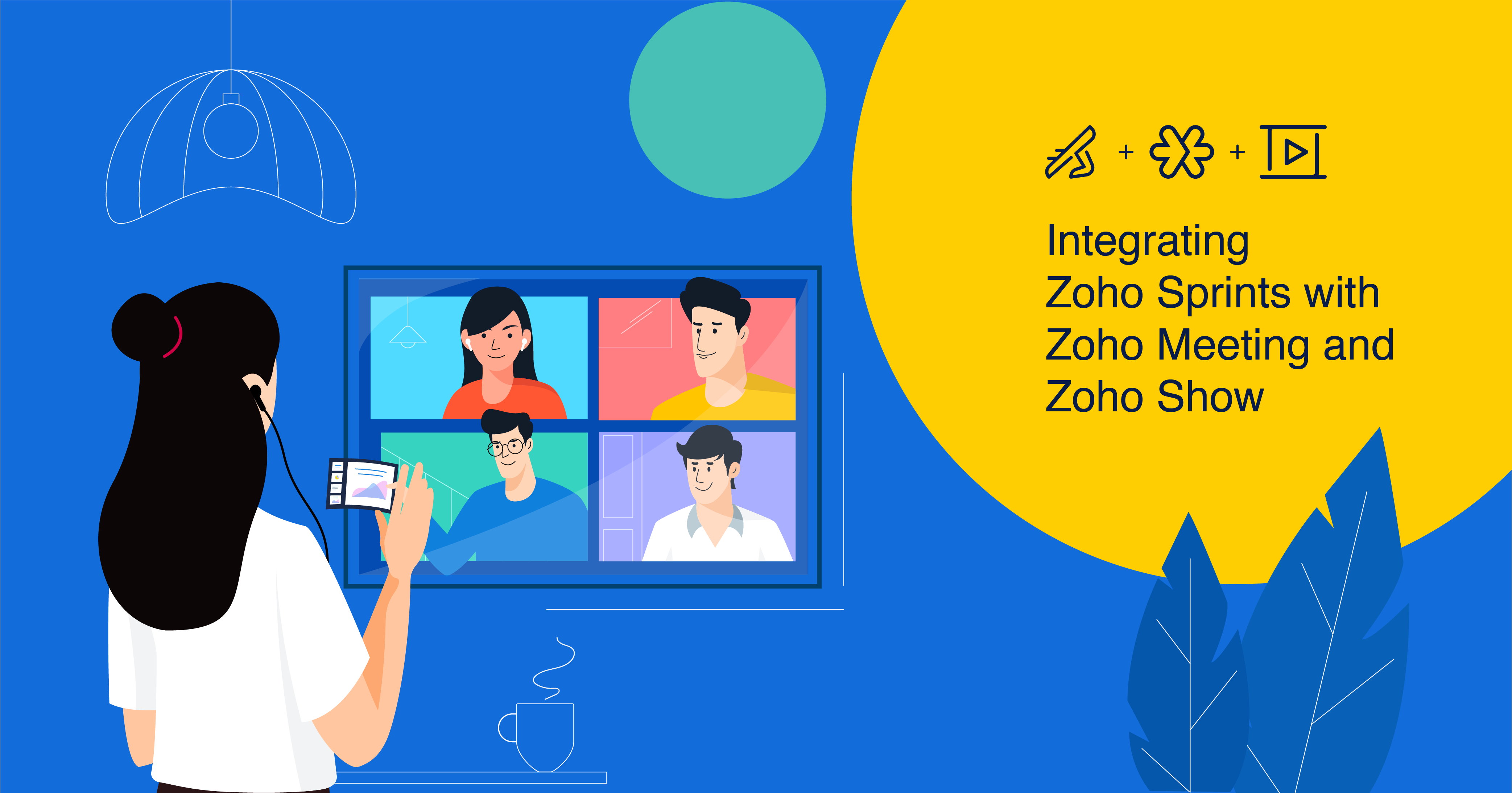 Work smarter by integrating Zoho Sprints with Zoho Meeting and Zoho Show