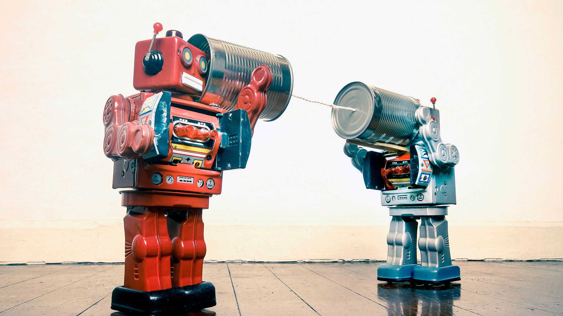 Image contains two robots and it depicts feedback