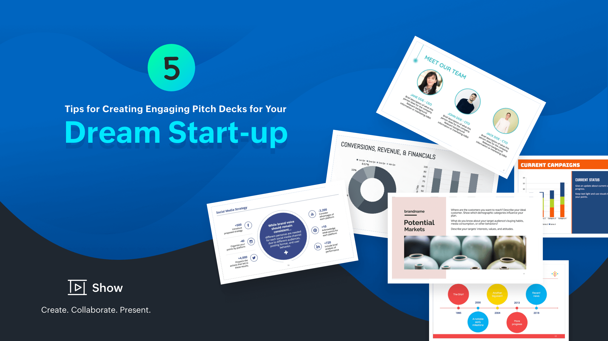 5 tips for creating engaging pitch decks for your dream start-up