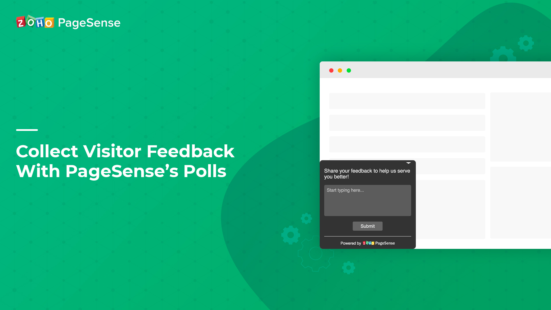 Collect Visitor Feedback With Zoho PageSense's Polls