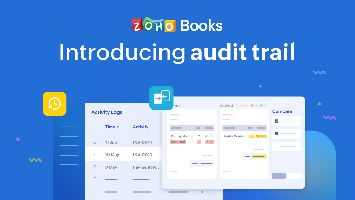 Introducing audit trail in Zoho Books