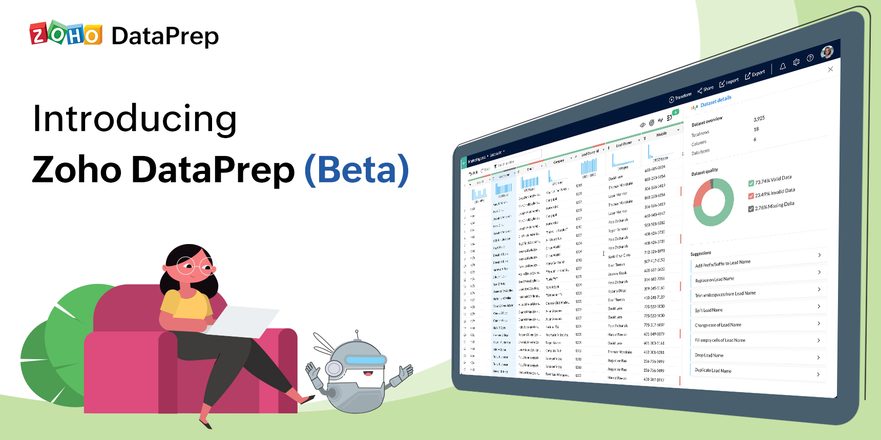 Introducing Zoho DataPrep: An advanced self-service data preparation software