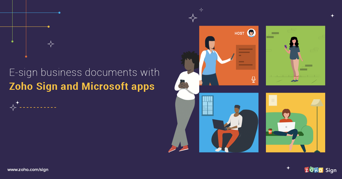 E-sign business documents with Zoho Sign and Microsoft apps