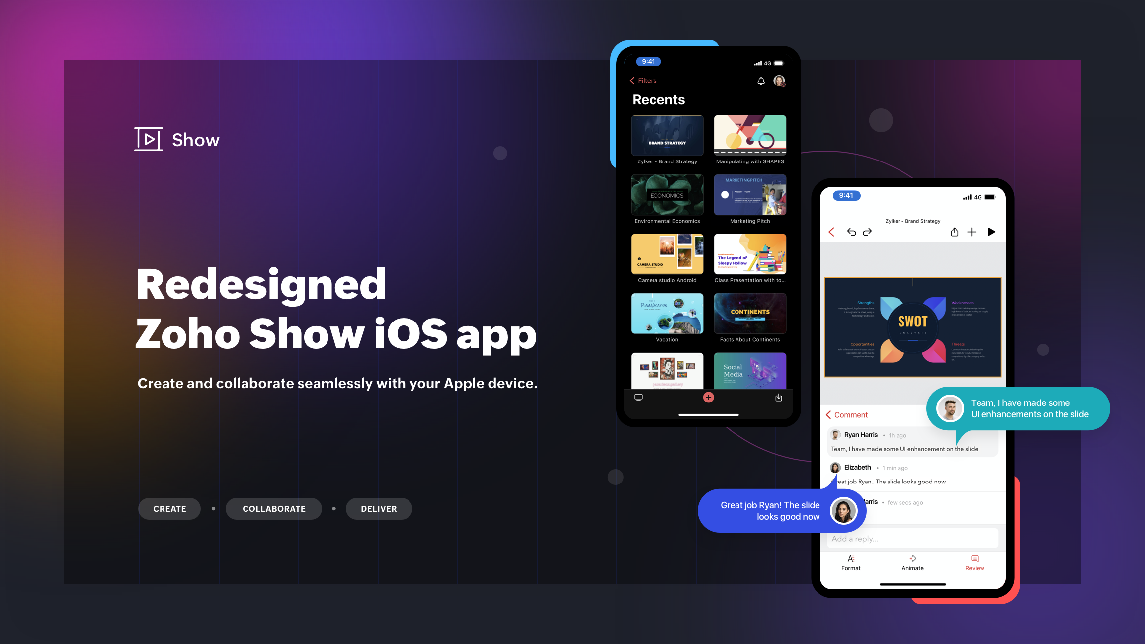 Introducing the Zoho Show iOS app: Redesigned to give you the ultimate presentation creation experience