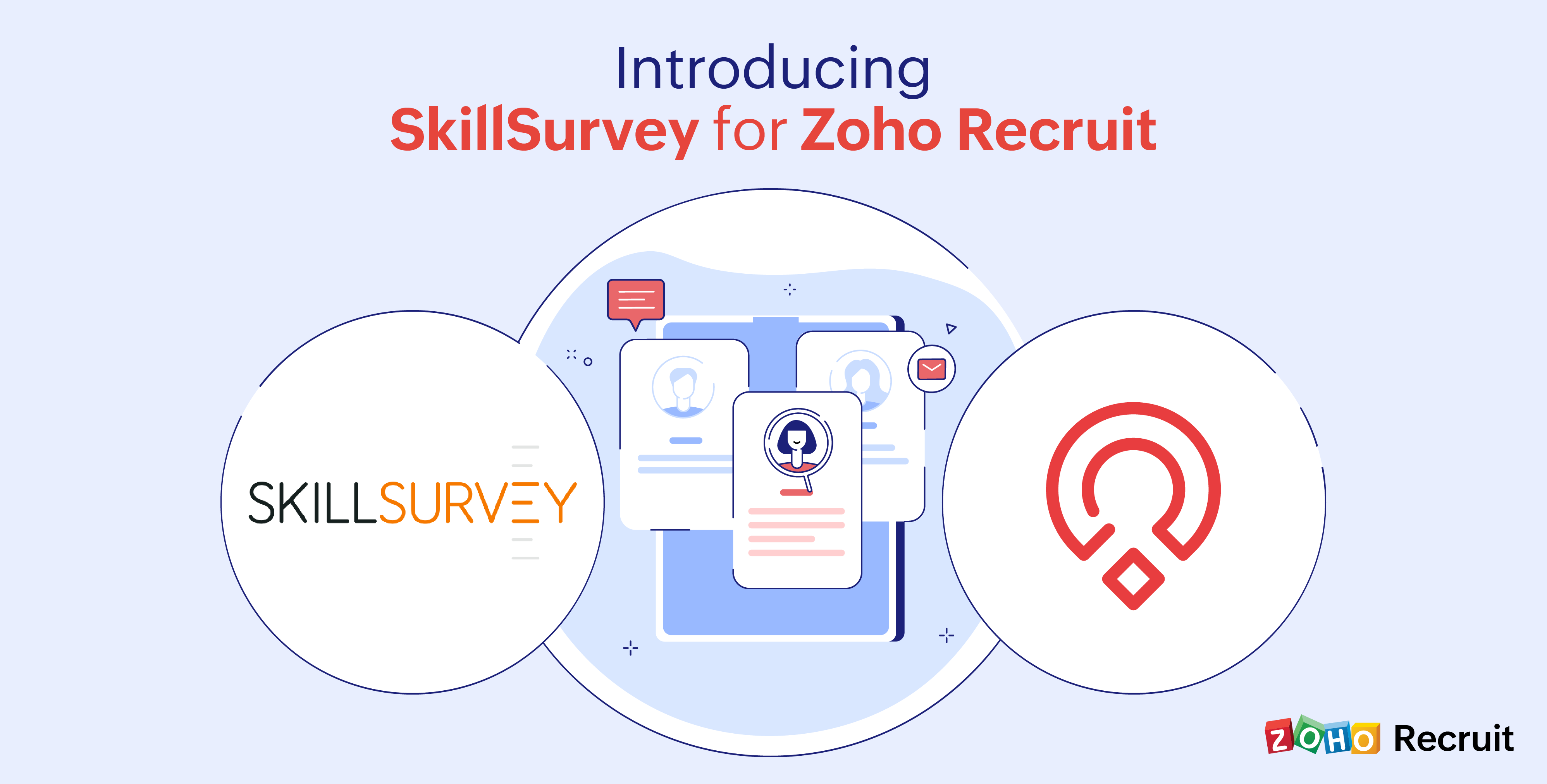 Zoho Recruit + SkillSurvey: Better together