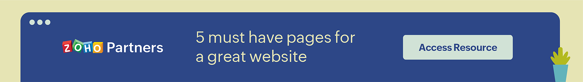 5 must have pages for your website.