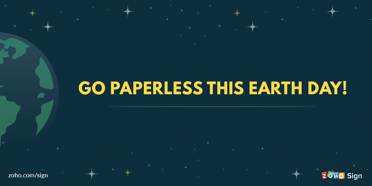 Go paperless this Earth Day!
