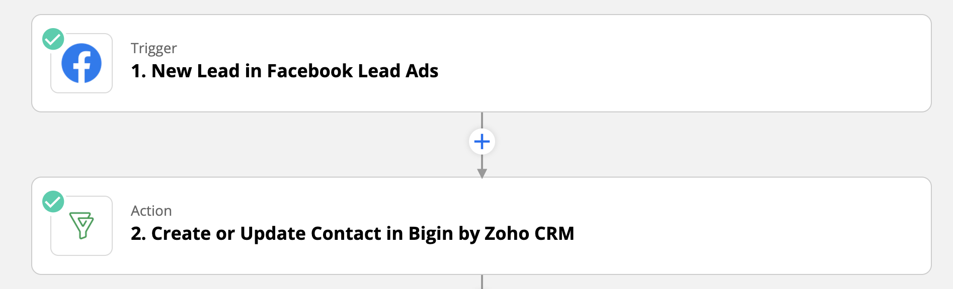 Bigin and Facebook Lead Ads integration