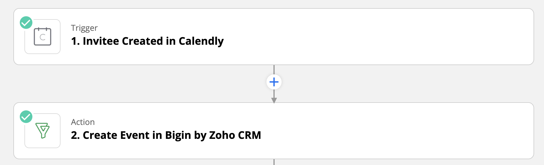 Bigin and Calendly Integration through Zapier