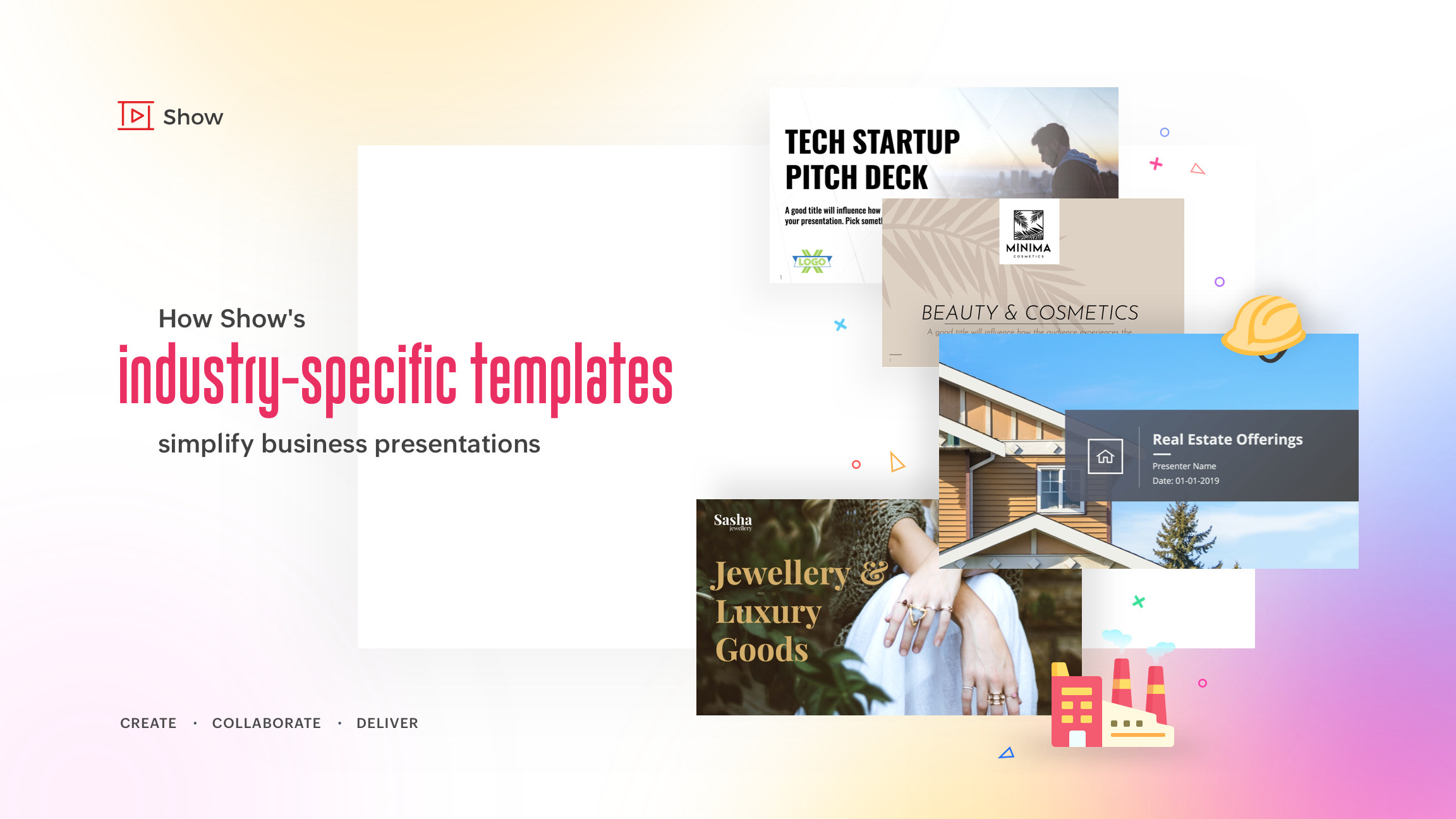 How Show's industry-specific templates simplify business presentations