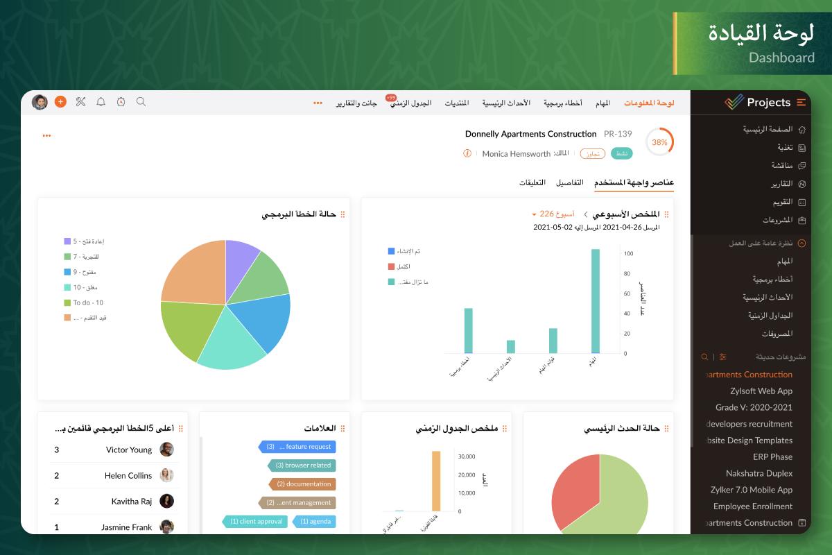 ZP Dashboard Arabic