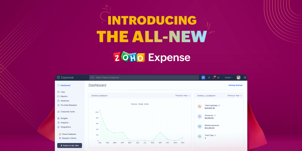 Introducing the all-new Zoho Expense: Corporate travel and expense management redefined
