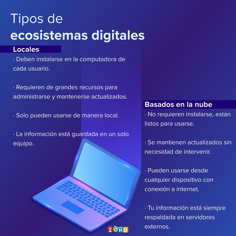 ecosistemas digitales en la nube vs locales